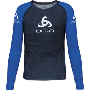 Odlo SUW KID'S TOP CREW NECK L/S ORIGINALS LIGHT modrá 152 - Dětské tričko