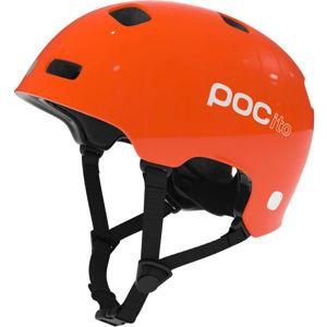 POC POCITO CRANE oranžová (55 - 56) - Dětská cyklistická helma