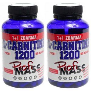 Profimass PROFI L-CARNITINE 1200 60+60 KAPSLÍ  NS - Tablety