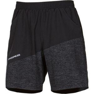 Progress TWISTER černá L - Pánské sportovní šortky