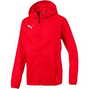 Puma LIGA TRAINING RAIN JKT CORE červená M - Pánská bunda