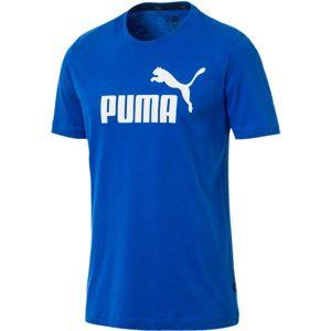 Puma SS LOGO TEE modrá M - Pánské triko