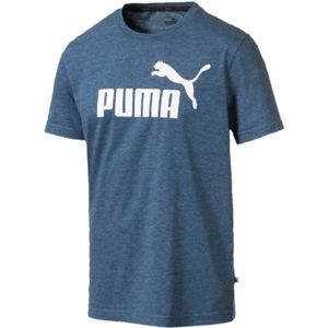 Puma ESS + HEATHER TEE tmavě modrá XXL - Pánské triko