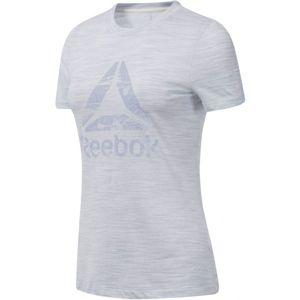 Reebok MARBLE LOGO TEE bílá M - Dámské triko