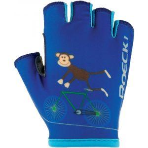Roeckl TORO modrá 6 - Dětské cyklistické rukavice