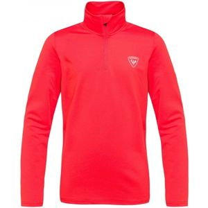 Rossignol BOY 1/2 ZIP WARM STRETCH červená 16 - Juniorský rolák
