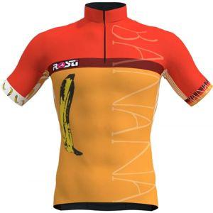 Rosti BANANA oranžová 2XL - Pánský cyklistický dres