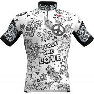 Rosti PEACE AND LOVE bílá XXL - Pánské cyklistické kraťasy s laclem