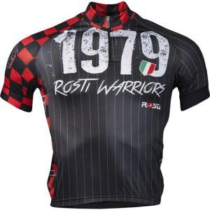 Rosti WARRIOR KR ZIP černá L - Pánský cyklistický dres