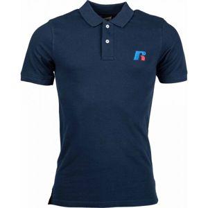 Russell Athletic CLASSIC POLO tmavě modrá XXL - Pánské triko