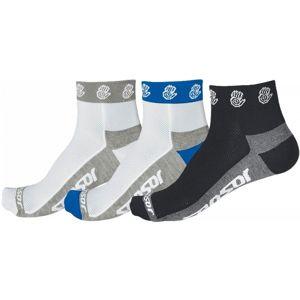 Sensor RUČIČKA 3-PACK bílá 43 - 46 - Cyklistické ponožky - Sensor