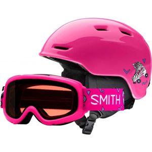 Smith ZOOM JR růžová (53 - 58) - Dětská lyžařská helma