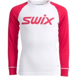 Swix RACE X červená 128 - Dětské triko s dlouhým rukávem