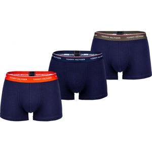 Tommy Hilfiger 3P WB TRUNK tmavě modrá S - Pánské boxerky