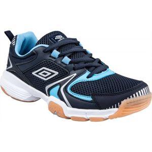 Umbro LOCKTON modrá 5Y - Dětská sálová obuv