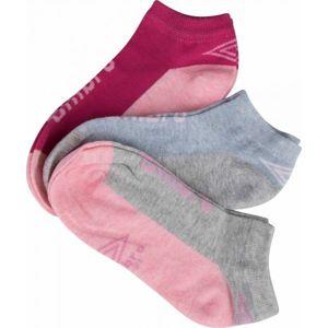 Umbro LOW LINER JUNIORS 3P šedá 35 - 38 - Dětské ponožky
