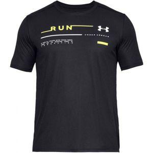 Under Armour RUN GRAPHIC TEE černá XL - Pánské běžecké triko