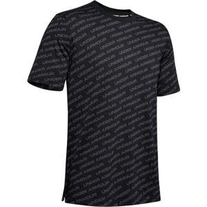 Under Armour UNSTOPPABLE WORDMARK TEE černá L - Pánské tričko