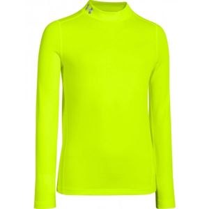 Under Armour CG EVO FITTED LS MOCK žlutá XL - Chlapecké triko