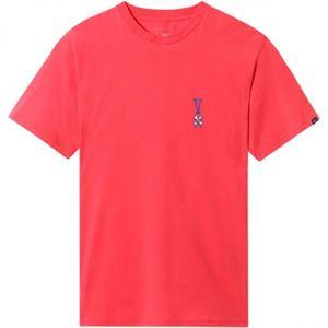 Vans MN COURT CARD SS červená L - Pánské tričko